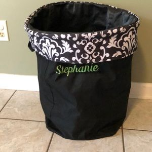 Deep tote, can be used as a laundry bag.